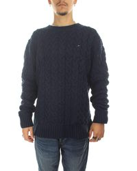 Tommy Hilfiger - CABLE SWEATER Langarm Pullover Blau - Lyst
