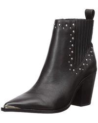 Kenneth Cole West Side Studded Block Heel Bootie - Black