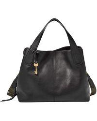 Fossil Maya Handbag Leather 34 Cm - Black