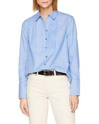 Tommy Hilfiger Lulu Shirt LS Camisa ga Larga - Azul