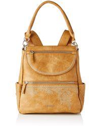 Desigual Pu Backpack - Brown