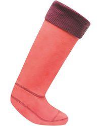Regatta Great Outdoors S/ladies Fleece Wellington Boot Socks - Pink