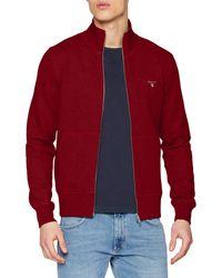 GANT The ORIGINAL Full Zip Cardigan Pullover - Grau