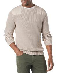 Goodthreads Soft Cotton Military Jumper - Grey