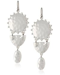 Lucky Brand - S Medallion Statement Earrings - Lyst
