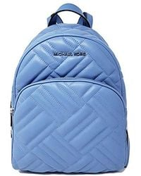 Michael Kors Abbey MD Quilted Backpack French Blue - Blau