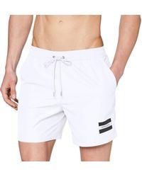 Calvin Klein Medium Drawstring Trunks - White
