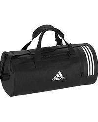 adidas Cvrt 3S Duf M Borsa Sportiva Unisex-Adulto, Nero (Negro/Blanco/Blanco) 45 Centimeters