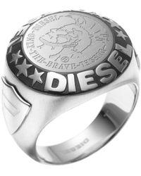 DIESEL Ring DX0182040 - Mettallic