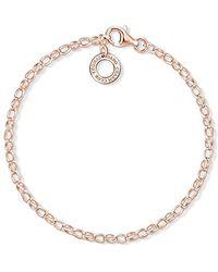 Thomas Sabo Bracelet de cheville pour femme en argent sterling 925 AK0018-646-7-L27v