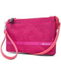 Skechers Rfid Crossbody Bag With Belt Loop - Pink