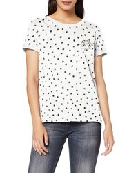 Esprit 099EE1K028 T-Shirt ches Longues - Blanc