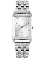 French Connection Analogue Quartz Watch With Stainless Steel Strap Fc1296sm - Metallic
