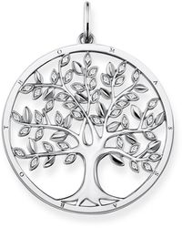 Thomas Sabo Tree Of Love Sterling Silver And Zirconia Pendant - Metallic