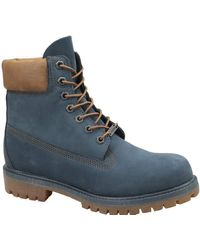 Timberland 6 inch Premium Boot A1lu4, Bottes & Bottines Classiques Homme - Bleu