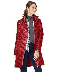 Calvin Klein Chevron Quilted Packable Down Jacket - Red