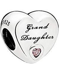 PANDORA Moments Granddaughter Herz-Charm Sterling Silber 796261PCZ - Mettallic