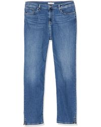 Tommy Hilfiger Mujer Riverpoint Cigarette Hw A Izzy Straight Jeans - Azul