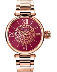 Thomas Sabo 's Analogue Quartz Watch With Stainless Steel Strap Wa0306-265-212-38 - Red
