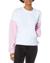 Hurley Sport Block Crew Neck Pullover Fleece Sweatshirt - Pink