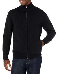 Amazon Essentials Full-zip Cotton Jumper - Black