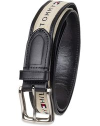 Tommy Hilfiger Ribbon Fabric Design With Single Prong Buckle - Black