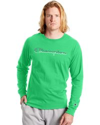 Champion Classic Graphic Long Sleeve Tee - Green