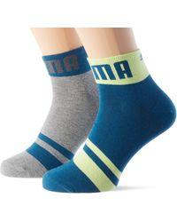 PUMA Seasonal Logo Quarter Socks - Noir