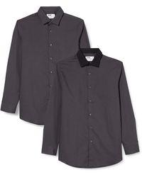 FIND Camisa de Cuadros Regular Fit - Gris