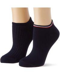Tommy Hilfiger Waffle Sneaker-Trainer Socks - Azul