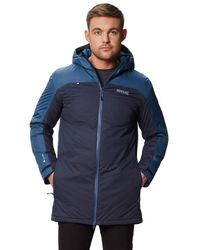 Regatta S Largo Technical Breathable Hooded Waterproof Coat Jacket - Blau