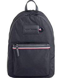 Tommy Hilfiger Modern Nylon Backpack Schultertasche, 12.5x46x31.5 Centimeters - Schwarz