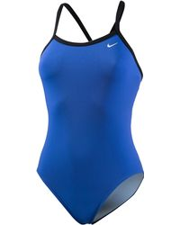 Nike Poly Solid Racerback One-Piece Swimsuit - Blau