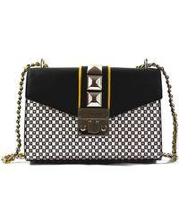 Michael Kors New York City Rose Medium Flap Shoulder Bag Purse Handbag - Nero