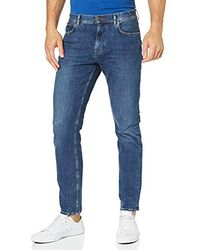 Tommy Hilfiger - Tapered Fit Str Aynor Blue Straight Jeans - Lyst