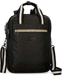 Pepe Jeans Strike Laptop Backpack 15,6 ́ ́ With Shoulder Strap - Black
