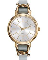 Esprit Reloj Análogo clásico para Mujer de Cuarzo con Correa en Cuero ES109342002 - Neutro