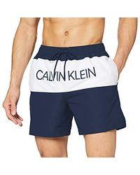 Calvin Klein Medium Drawstring Pantaloncini Uomo - Blu