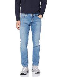Wrangler Larston Jeans Slim Uomo - Blu