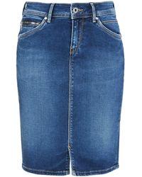 Pepe Jeans London Taylor, Falda para Mujer - Azul