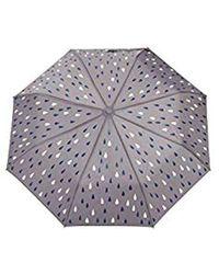 Esprit Regenschirm mit Tropfen-Print - Mehrfarbig