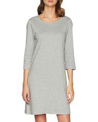 Tom Tailor Denim Damen Kleid, Grau (Light Silver Grey Mé 10367), Small