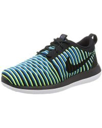 detailed look a5642 d0bd7 Roshe Two Flyknit Trail Running Trainers - Black