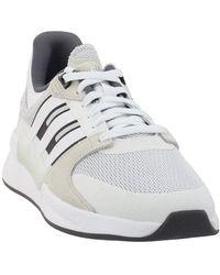 adidas Run90s Chaussures de course pour homme Blanc/nuage Blanc/blanc brut 9.5 - Noir