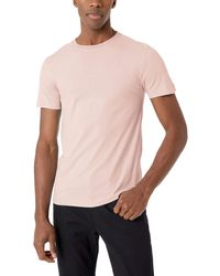 French Connection Short Sleeve Reg Fit Solid Colour Crew Neck Cotton T-shirt - Pink