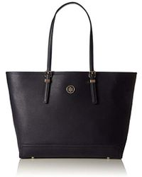 Tommy Hilfiger S Honey Ew Tote Canvas And Beach Tote Bag - Blue