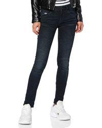 G-Star RAW 5620 Elwood Custom Mid Waist Skinny-jeans - Blue
