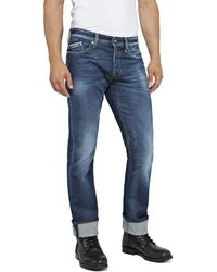 Replay Waitom Straight Jeans - Blue