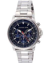 Michael Kors Chronograph Quarz Uhr mit Edelstahl Armband MK8641 - Mettallic
