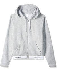 Calvin Klein Top Hoodie Full Zip Capucha - Gris